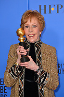 LOS ANGELES, CA. January 06, 2019: Carol Burnett at the 2019 Golden Globe Awards at the Beverly Hilton Hotel.<br /> Picture: Paul Smith/Featureflash