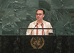 72 General Debate &ndash; 23rd of September  2017<br /> <br /> H.E. Alan Peter CAYETANO<br /> <br /> Secretary for Foreign Affairs of the<br /> PHILIPPINES