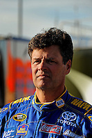 Feb 20, 2009; Fontana, CA, USA; NASCAR Sprint Cup Series driver Michael Waltrip during qualifying for the Auto Club 500 at Auto Club Speedway. Mandatory Credit: Mark J. Rebilas-