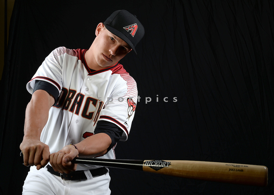 Arizona Diamondbacks Jake Lamb (22) during photo day on February 28, 2016 in Scottsdale, AZ.