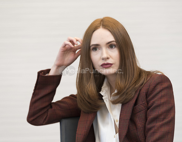 """Karen Gillan, who stars in 'Avengers: Endgame"""", at the InterContinental Hotel in Los Angeles. Credit: Magnus Sundholm/Action Press/MediaPunch ***FOR USA ONLY***"""