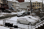 first snow storm arrives in New York, United States. 21/01/2012. Photo by Kena Betancur / VIEWpress.
