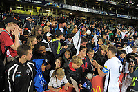 All Whites captain Chris Wood signs autographs after the first leg of FIFA World Cup Russia 2018 qualifying football match between the New Zealand All Whites and Solomon Islands at QBE Stadium in Albany, New Zealand on Friday, 1 September 2017. Photo: Dave Lintott / lintottphoto.co.nz