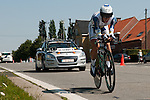 ARDOOIE, BELGIUM - AUGUST 11: Stage six of the 2012 Eneco Tour with the individual time trial from Ardooie to Ardooie (round circuit) on August 11, 2012 in Ardooie, Belgium. (Photo by Dirk Markgraf)