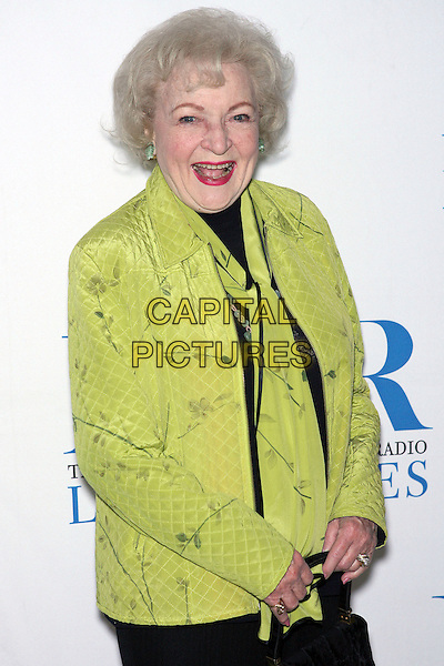 BETTY WHITE.Launch party for the second year of MTR?s She Made It: Women Creating Television and Radio - Arrivals held at the Museum of Television & Radio, Beverly Hills, California, USA..December 5th, 2006.half length green jacket.CAP/ADM/ZL.©Zach Lipp/AdMedia/Capital Pictures