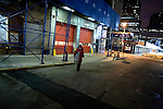 Leaving the fire house at 5:15 AM, day 15, to return home..A day in the life of Rosaleen Tallon, sister of firefighter Sean Tallon killed in the 9/11 World Trade Center attacks. In response to the proposed WTC memorial being built underground at the site, Ms. Tallon has been sleeping for 16 days in front of the fire house across from the WTC site. She and several other WTC families are protesting the memorial design and asking for the victim's names to be placed above ground for the sake of honoring the lives lost and safety concerns with any possible future evacuation of the site.