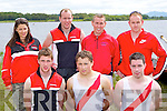 Workmens RC rowers at the Killarney Regatta on Sunday l-r: Billy O'Brien, Mike Quirke, Cieran Counihan. Back row: Ria Dower, Bernard Sweeney, Mike Sweeney and James O'Sullivan..
