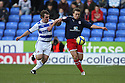 Jay Tabb of Reading and Luke Freeman of Stevenage (on loan from Arsenal) battle.Reading v Stevenage - FA Cup 3rd Round - Madejski Stadium,.Reading - 7th January, 2012.© Kevin Coleman 2012