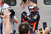 1st October 2017, Sepang, Malaysia;  FIA Formula One World Championship, Grand Prix of Malaysia; erstappen of the Netherlands celebrates after the Formula One Malaysia Grand Prix at the Sepang Circuit in Malaysia, on Oct. 1, 2017. Max Verstappen claimed the title of the event
