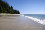 China Beach sandy shores in summer, Mystic Beach landscape, Juan de Fuca Provincial Park scenery, Port Renfrew, South shore of Vancouver island, British Columbia, Canada 2017