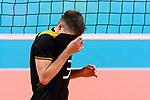 13.09.2019, Paleis 12, BrŸssel / Bruessel<br />Volleyball, Europameisterschaft, Deutschland (GER) vs. Serbien (SRB)<br /><br />Ruben Schott (#3 GER) enttŠuscht / enttaeuscht / traurig <br /><br />  Foto © nordphoto / Kurth