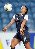 US's Sydney Leroux plays the ball during their Algarve Women's Cup soccer match at Algarve stadium in Faro, March 13, 2013.  .Paulo Cordeiro/ISI