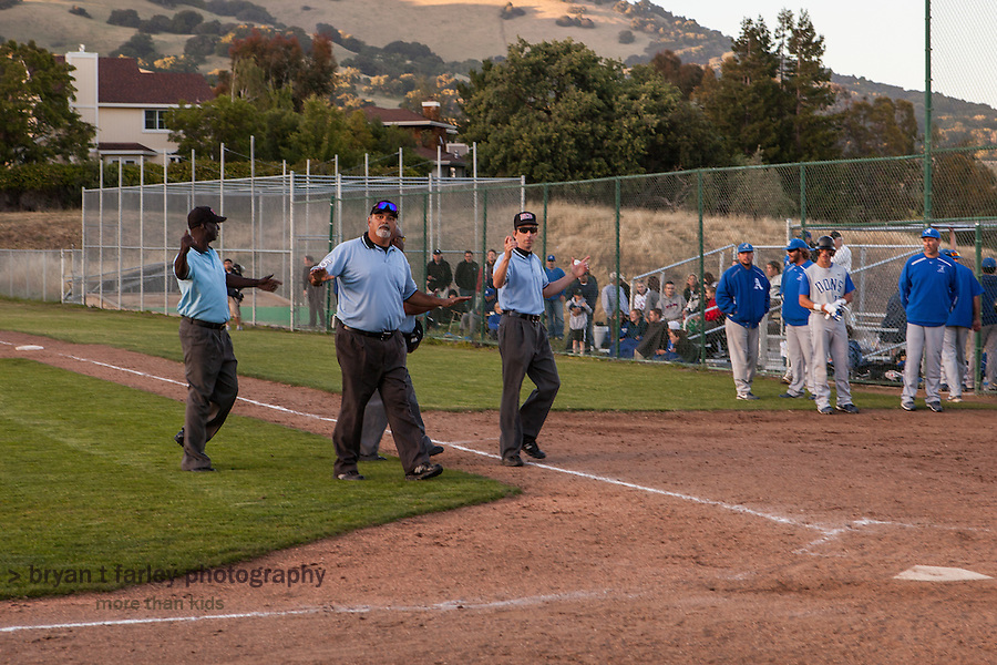 The  umpires suspended the North Coast Section Division 3 final after 10 complete innings with the score 4-4. (The June 7, 2011 game at San Marin High had originally been schedule for June 4, but was postponed because of rain.) Late June 7th, NCS officials  declared both teams Co-champions when adminstrators from both schools could not find a date to complete the game.