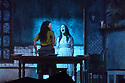 Jakop Ahlbom's HORROR returns to the Peacock Theatre. The cast is: Silke Hundertmark, Maurits van den Berg, Yannick Greweldinger, Gwen Langenberg, Luc van Esch, Judith Hazeleger, Sofieke de Kater, Reinier Schimmel. Picture shows: Silke Hundertmark, Gwen Langenberg