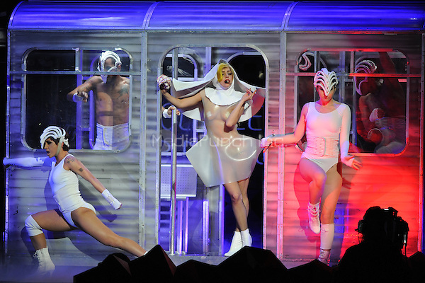 NEW ORLEANS, LA - APRIL 9 :  Lady Gaga performs in concert during her Monster Ball tour at the New Orleans Arena on April 9, 2011 in New Orleans, Louisiana. © mpi04/MediaPunch Inc.