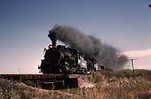 D&amp;RGW #483 &amp; #493 with freight south of Alamosa.<br /> D&amp;RGW  s. of Alamosa, CO