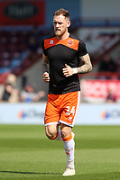 Blackpool's Harry Pritchard during the pre-match warm-up <br /> <br /> Photographer David Shipman/CameraSport<br /> <br /> The EFL Sky Bet League One - Scunthorpe United v Blackpool - Friday 19th April 2019 - Glanford Park - Scunthorpe<br /> <br /> World Copyright © 2019 CameraSport. All rights reserved. 43 Linden Ave. Countesthorpe. Leicester. England. LE8 5PG - Tel: +44 (0) 116 277 4147 - admin@camerasport.com - www.camerasport.com