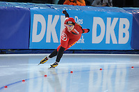 SPEED SKATING: STAVANGER: Sørmarka Arena, 31-01-2016, ISU World Cup, 1000m Ladies Division A, Qishi Li (CHN), ©photo Martin de Jong
