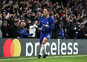 5th December 2017, Stamford Bridge, London, England; UEFA Champions League football, Chelsea versus Atletico Madrid; Eden Hazard of Chelsea celebrates after pressuring Savic into an own goal in the 72nd minute to make it 1-1