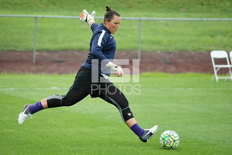 Piscataway, NJ - Saturday July 09, 2016: Jill Loyden prior to a regular season National Women's Soccer League (NWSL) match between Sky Blue FC and the Houston Dash at Yurcak Field.