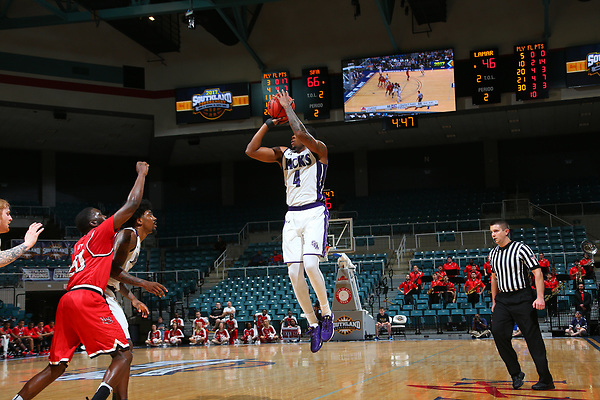 KATY, TX - MARCH 8: Stephen F Austin University v Lamar University  during the Southland Conference basketball Tournament Game 4 at Merrell Center in Katy on March 8, 2017 in Katy, Texas. (Photo by Rick Yeatts)