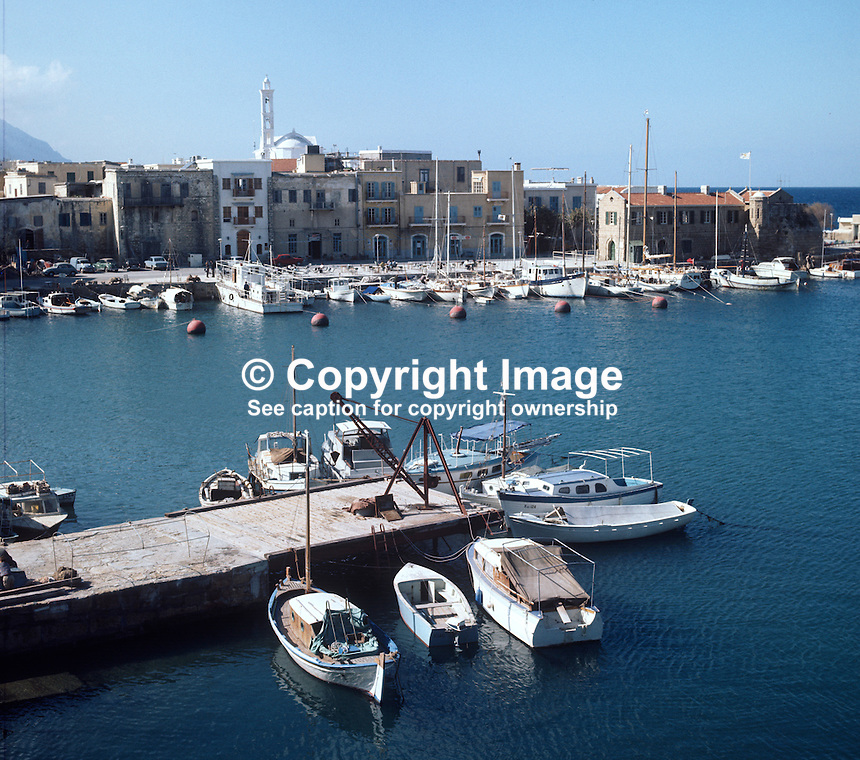 Harbour, Kyrenia, Cyprus, Turkish area, 197102000106a..Copyright Image from Victor Patterson, 54 Dorchester Park, Belfast, UK, BT9 6RJ..Tel: +44 28 9066 1296.Mob: +44 7802 353836.Voicemail +44 20 8816 7153.Skype: victorpattersonbelfast.Email: victorpatterson@me.com.Email: victorpatterson@ireland.com (back-up)..IMPORTANT: If you wish to use this image or any other of my images please go to www.victorpatterson.com and click on the Terms & Conditions. Then contact me by email or phone with the reference number(s) of the image(s) concerned.