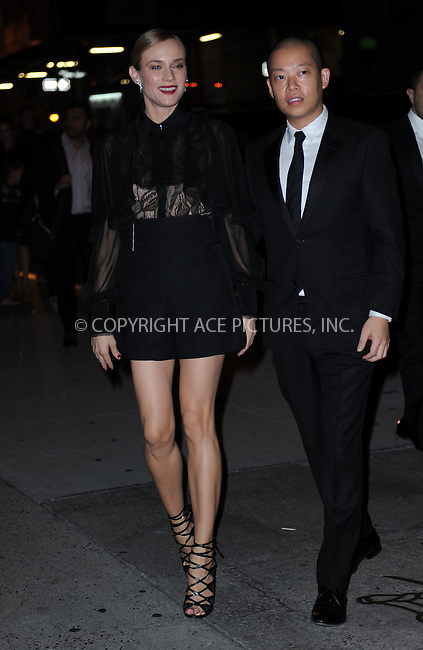 WWW.ACEPIXS.COM<br /> October 22, 2015 New York City<br /> <br /> Diane Kruger and Jason Wu arriving to attend the 2015 Fashion Group International's Night Of Stars at Cipriani Wall Street on October 22, 2015 in New York City.<br /> <br /> Credit: Kristin Callahan/ACE<br /> Tel: (646) 769 0430<br /> e-mail: info@acepixs.com<br /> web: http://www.acepixs.com