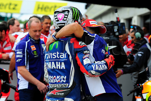 30.08.2014.  Silverstone, England. MotoGP. British Grand Prix. Jorge Lorenzo (movistar yamaha Team)during the qualifying sessions.