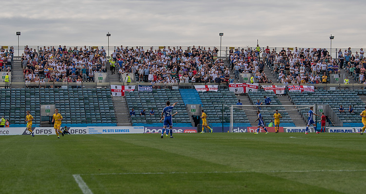 The bolton fans look as the match starts<br /> <br /> Photographer David Horton/CameraSport<br /> <br /> The EFL Sky Bet League One - Gillingham v Bolton Wanderers - Saturday 31st August 2019 - Priestfield Stadium - Gillingham<br /> <br /> World Copyright © 2019 CameraSport. All rights reserved. 43 Linden Ave. Countesthorpe. Leicester. England. LE8 5PG - Tel: +44 (0) 116 277 4147 - admin@camerasport.com - www.camerasport.com