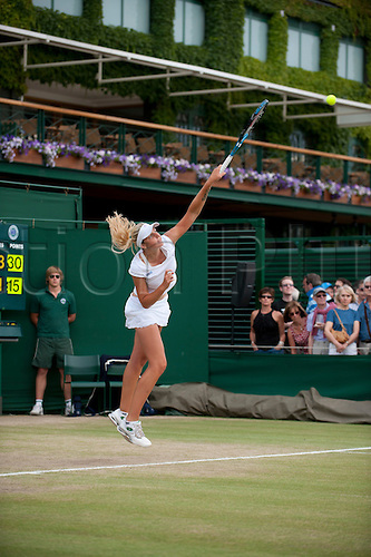 June 30th 2010: Wimbledon International Tennis Tournament held at the All England Lawn Tennis Club, London, England,  Kristyna Pliskova of CZE playing Eleanor Dean of GBR