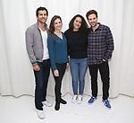 "Gabriel Sloyer, Mairin Lee, Keren Lugo and Ben Rappaport attend the cast photocall for the Worls Premiere of ""Actually, We're F**ked"" at TheaterLab on January 29, 2019 in New York City."