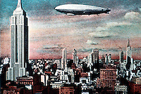 New York City: Empire State Building & Airship.  POSTCARD? KOOLHAAS, 118. Reference only.