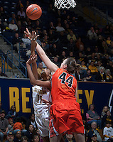 Kyra Dunn of California shoots the ball during the game against Oregon State at Haas Pavilion in Berkeley, California on January 3rd, 2014.  California defeated Oregon State, 72-63.