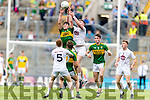 Mike Breen Kerry in action against David Marnell Kildare in the All Ireland Minor Football Semi Final at Croke Park on Sunday.