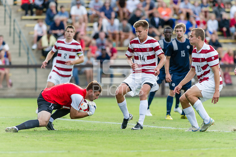 September 1, 2013: Stanford vs Georgetown in a men's soccer match in Stanford, California.  Stanford lost 2-0.
