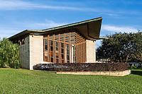 Danforth Chapel exterior designed by Frank Loyd Wright, Florida Southern College, Lakeland, Florida, USA