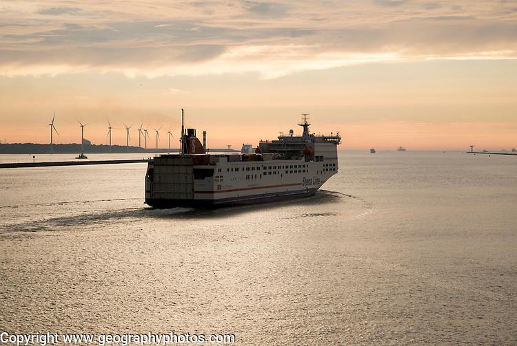 Stena Line freight ferry, Port of Rotterdam, Hook of Holland, Netherlands