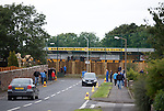Walking down the to ground at Annan..