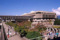 Simon Fraser University (SFU) Campus Building on Burnaby Mountain, Burnaby, BC, British Columbia, Canada - Convocation Mall - Arthur Erickson Architect