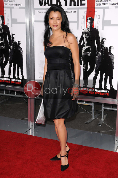 Kelly Hu <br /> at the Los Angeles Premiere of 'Valkyrie'. The Directors Guild of America, Los Angeles, CA. 12-18-08<br /> Dave Edwards/DailyCeleb.com 818-249-4998