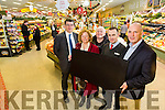 Marie Hartnett, Listowel winner of the Kerry's Eye Garveys  Shopping Competition, was presented with her €1000 shopping card at  Garveys SuperValu, Listowel on Tuesday Pictured Jim Garvey, Garveys Supervalu, Marie Hartnett, Listowel, Eddie Browne,  Paul O'Connor, Manager of Garveys SuperValu, Listowel, Brendan Kennelly, Marketing Manager, Kerry's Eye