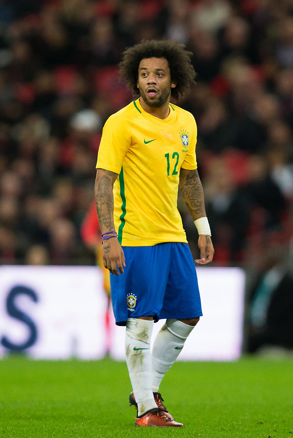 Brazil&rsquo;s Marcelo <br /> <br /> Photographer Craig Mercer/CameraSport<br /> <br /> The Bobby Moore Fund International - England v Brazil - Tuesday 14th November 2017 Wembley Stadium - London  <br /> <br /> World Copyright &copy; 2017 CameraSport. All rights reserved. 43 Linden Ave. Countesthorpe. Leicester. England. LE8 5PG - Tel: +44 (0) 116 277 4147 - admin@camerasport.com - www.camerasport.com