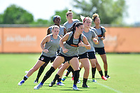 Houston, TX - Friday Oct. 07, 2016: Washington Spirit, Ali Krieger during training prior to the National Women's Soccer League (NWSL) Championship match between the Washington Spirit and the Western New York Flash at Houston Sports Park.
