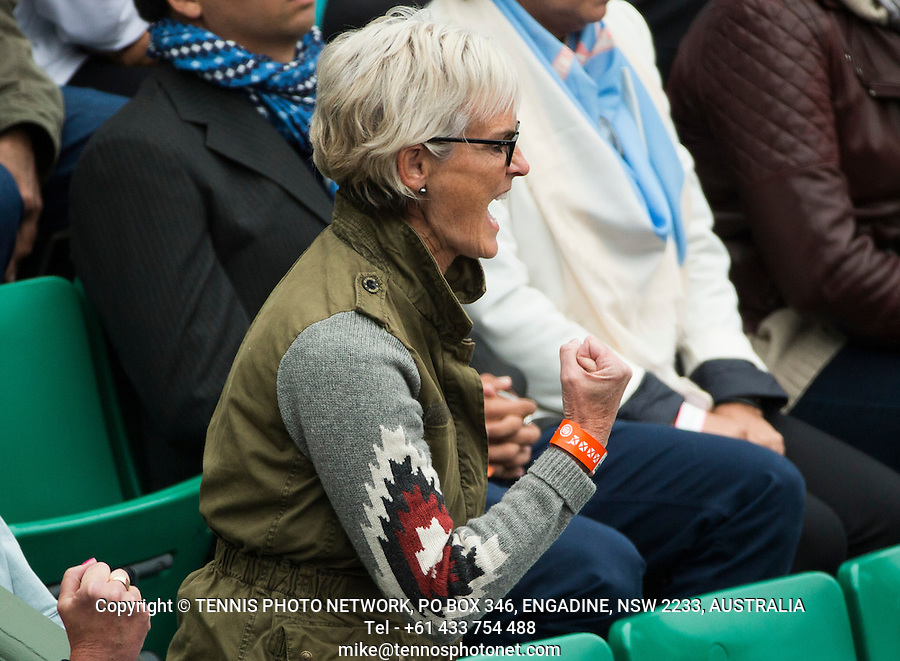 JUDY MURRAY<br /> <br /> TENNIS - FRENCH OPEN - ROLAND GARROS - ATP - WTA - ITF - GRAND SLAM - CHAMPIONSHIPS - PARIS - FRANCE - 2016  <br /> <br /> <br /> <br /> &copy; TENNIS PHOTO NETWORK