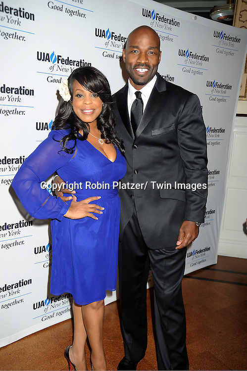 Niecy Nash and husband Jay Tucker attends the UJA-Federation of New York's Leadership Awards  Steve J Ross Humanitarian Award Dinner honoring David Zaslav, President & CEO of Discovery on April 3, 2012 at 583 Park Avenue in New York City.