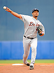 11 March 2008: Detroit Tigers' pitcher Yorman Bazardo on the mound during a Spring Training game against the Cleveland Indians at Chain of Lakes Park, in Winter Haven Florida.The Tigers rallied to defeat the Indians 4-2 in the Grapefruit League matchup....Mandatory Photo Credit: Ed Wolfstein Photo