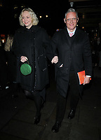Gwendoline Christie and Giles Deacon at the &quot;True West&quot; theatre press night, Vaudeville Theatre, The Strand, London, England, UK, on Tuesday 04 December 2018.<br /> CAP/CAN<br /> &copy;CAN/Capital Pictures