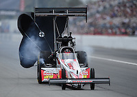 Mar. 10, 2012; Gainesville, FL, USA; NHRA top fuel dragster driver David Grubnic during qualifying for the Gatornationals at Auto Plus Raceway at Gainesville. Mandatory Credit: Mark J. Rebilas-