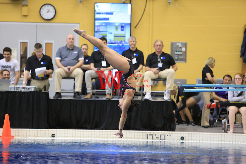 The University of Minnesota women's swimming and diving team compete at the 2017 Women's Big Ten Championships at Purdue University. February 16, 2017.<br /> (Photo by Walt Middleton Photography 2017)