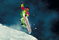 Dave Hatchett (MR184) snowboarding, Summit County, CO. Dave Hatchett (MR184). Summit County, Colorado.